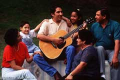 A party on a front porch; Size=240 pixels wide